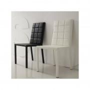 Distribain FANTASY Lot de 4 chaises blanches