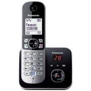 Telefon fara fir DECT Panasonic KX-TG6821FXB cu Robot Digital Negru Gri