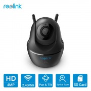 Reolink 4MP WiFi Camera 2.4G/5G PT 3x Optical Zoom HD Baby Monitor Mini PTZ Indoor Home Surveillance Cam C2
