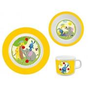 KIKANINCHEN L'ensemble petit-déjeuner vaisselle bébé, jaune