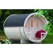 WOLFF FINNHAUS Saunafass 280 Bausatz rot 42 mm naturbelassen