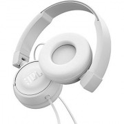 JBL T450 On-Ear Headphones with Mic (White)