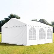Profizelt24 Partyzelt 6x6m PVC weiß Gartenzelt, Festzelt, Pavillon