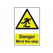 """Scan 1105 200 - Cartello """"Pericolo, attenzione al gradino"""" in pVC 200 x 300 mm"""