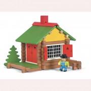 Дървен конструктор къща Vilac 70 части