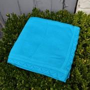 Cachemira y lana Scallop Edge bebé manta azul deep green sea