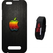 BKDT Marketing Printed Back Cover for Lava A76 with Digital Watch