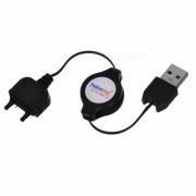 USB retractil de cable de carga para Sony Ericsson K750 / D750i / J220I / J230i / K220i + Mas (70 cm)
