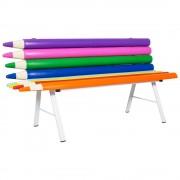 Banco Lápis Colorido para Escola, Festa e Jardim