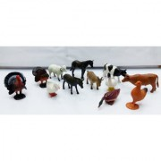 Kiditos Farm Animals Figures PVC Animal Toys 12 pcsset