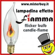 LAMPADINA EFFETTO FIAMMA COMPLETA CAVO E SPINA