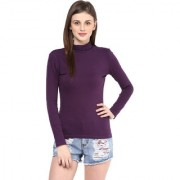 Hypernation Turtle Neck Purple Color With Cotton Top