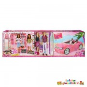 Mattel Bundle Dei Sogni Barbie - Ken - Auto Glam - Armadio Dei Sogni