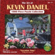 Sit a Spell 1000 Piece Jigsaw Puzzle By Kevin Daniels - Cats, Siamese Cat