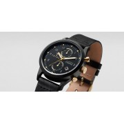 TRIWA Midnight Lansen Chrono Watch Black