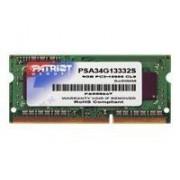 Patriot Signature Apple - DDR3 - 4 Go - SO DIMM 204 broches - 1333 MHz / PC3-10600 - CL9 - 1.5 V - mémoire sans tampon - non ECC - pour Apple iMac; MacBook; MacBook Pro