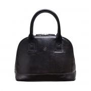 Damen Leder Henkeltasche in Schwarz - Handtasche, Schultertasche, Umhängetasche, Shopper