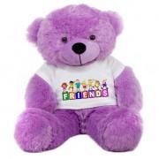 Purple 2 feet Big Teddy Bear wearing a FRIENDS T-shirt