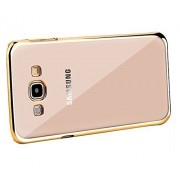 Case Creation New Luxury Perfect Fitting Electroplated Edge Gold Frame Border Bumper Plating High Quality Original TPU Soft Ultra Thin Transparent Silicone Crystal Clear TPU Flexible Back Case Cover Corner Protection for Samsung Galaxy J7 (2016) J710F, J7