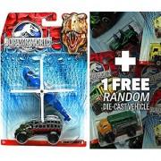 Mission Chopper & Mauler Hauler: Jurassic World Land and Air Vehicle Pack + 1 FREE Official Jurassic World Matchbox Die