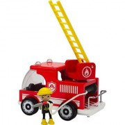 Hape - Playscapes - Fire Truck Wooden Play Set