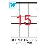 Etichete A4 , 70 x 56mm , TW 2115