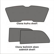 Sluneční clony sada - zadní dveře, dveře kufru, Škoda Rapid, Typ NH, Limousine, 4-dveř., 2012 –›