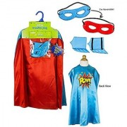 Creative Play Child Superhero Kit POW (Blue/Red)