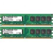 A-Tech 2GB KIT 2x 1GB HP-Compaq Business dc5800 dc5850 dc7700 dc7700 dc7800 dc7900 dx2310 dx2355 dx2358 dx2390 dx2400 dx2420 dx2450 DIMM DDR2 NON-ECC PC2-6400 800MHz RAM Memory