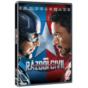 Captain America-Civil War:Chris Evans,Robert Downey jr.,Scarlett Johanson etc. - Captain America:Razboiul civil (DVD)