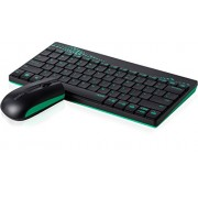 Rapoo 8000 Wireless Keyboard & Mouse Combo(Green)