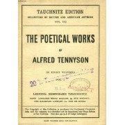 The Poetical Works Of Tennyson, Vol. 5 (Tauchnitz Edition, Collection Of British And American Authors, Vol. 742)