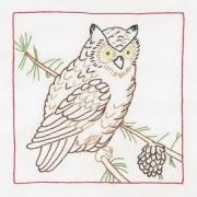 Jack Dempsey 733 476 Stamped White Quilt Blocks 9 X9 12/Pkg Owl