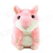 CheerlIink TS-908 People Talking Plush Recording Hamster / Educational Toy - Pink + White (3 x AAA)