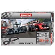 Carrera Evolution 20025219 - Set Costruzioni Race Champs Ferrari Sf 15-Ts.Vettel No.05+ Mercedes F1 W05 Hybridl.Hamilton, No.44, 5.3 m