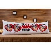 Almofada ou Travesseiro para Corpo Especial para o Dia dos Namorados - Te Amo de Montão