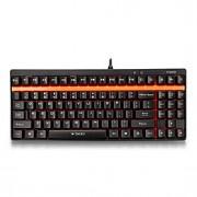teclas de Rapoo teclado para jogos teclado mecânico v500 eixo preto pro programável com acidente vascular cerebral 1,5 milímetros gatilho