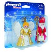 Playmobil Navidad - San Nicolás y ángel de Navidad, figuras (5592)