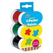 Galt Toys Washable Poster Paints (6 Pieces)