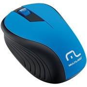 Mouse sem Fio Multilaser 2.4GHz 1200dpi MO215 Preto/Azul