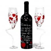 Set de vin personalizat I love you