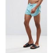 ASOS Короткие бирюзовые шорты для плавания с разрезами по бокам ASOS