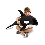 Melissa & Doug Giant Orca Whale - Lifelike Stuffed Animal (over 1 meter long)