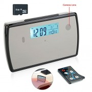 TEKMAGIC 8GB Cámara Espía Reloj Despertador 1280X720P HD Detección de Movimiento Videocámara Mini DV 4.5 Horas de Grabación Continua de Video