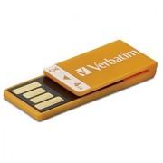 Verbatim 97551 Clip-It 4Gb Usb Flash Drive - Orange