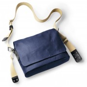 Brooks Paddington Shoulder Bag Canvas dark blue / black 2017 Messenger Bags & Kuriertaschen