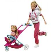 "Simba Toys 105733076 - Steffi Love, Bambola ""mamma sportiva"""