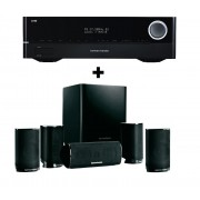 Sistem 5.1 Home Cinema Harman/Kardon HKTS 9 + Receiver Harman / Kardon AVR 171 BF2016