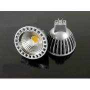 LED lámpa , 12V DC , MR16 foglalat , 4 Watt , 60° , hideg fehér