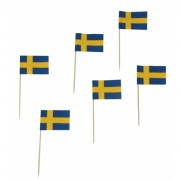 Kaasvlaggetjes Zweden 50 stuks